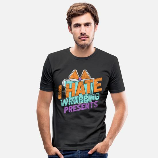 Birthday T-Shirts - Wrapping presents - Men's Slim Fit T-Shirt black