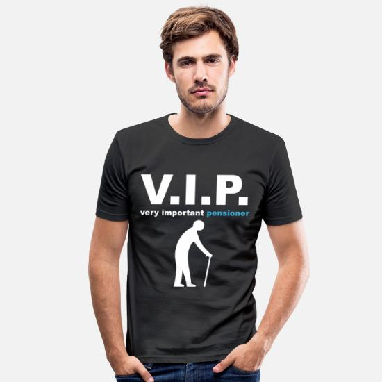 Pensionist T-shirt - VIP pensionist - Slim fit T-shirt mænd sort