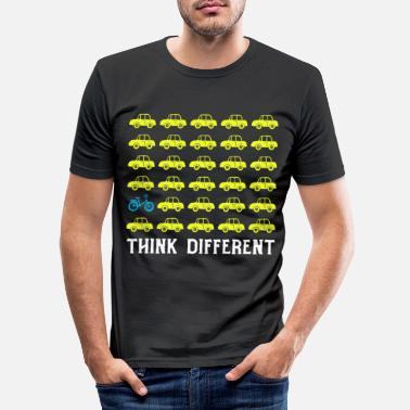 Umwelt Think Different - Männer Slim Fit T-Shirt