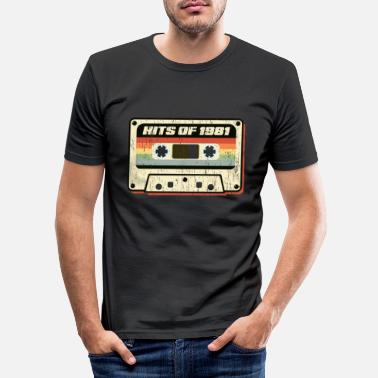 Tape Hits Of 1981 Audio Cassette Vintage Retro Design - Slim fit T-shirt mænd