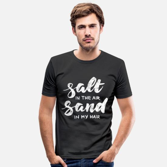 Summertime T-Shirts - Salt sand beach summer - Men's Slim Fit T-Shirt black