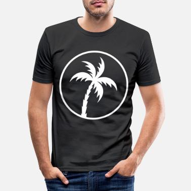palm cirkel pictogram - Mannen slim fit T-shirt