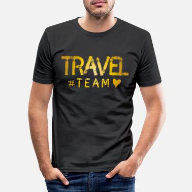 Gruppe Reisen Travel Team Herz - Männer Slim Fit T-Shirt