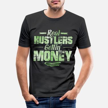 Dollar Hustle hiphop rap die geld zegt - Mannen slim fit T-shirt