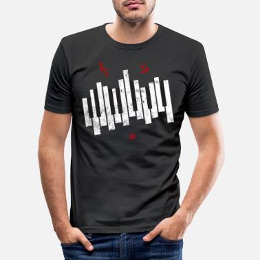 Key Button piano keys - Men's Slim Fit T-Shirt