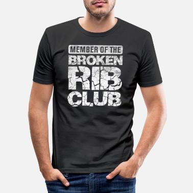 Gewond Broken Rib Club - Gewonde botten en ribben - - Mannen slim fit T-shirt