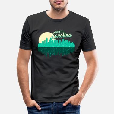 North Carolina North Carolina - Mannen slim fit T-shirt