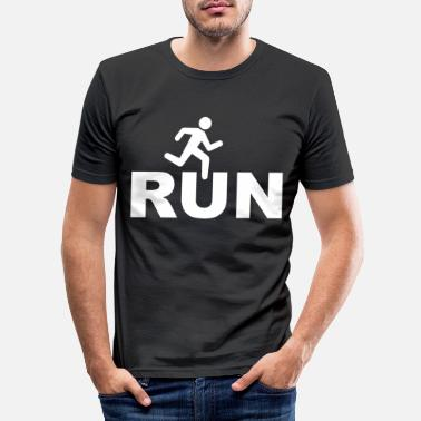 run - Men's Slim Fit T-Shirt