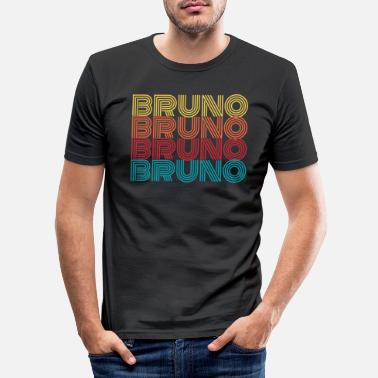 Name Bruno name name first name name day gift - Men's Slim Fit T-Shirt