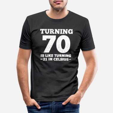 Birthday 70th Birthday - Men's Slim Fit T-Shirt