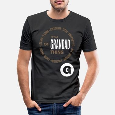 Awesome It's a Grandad Thing - Men's Slim Fit T-Shirt
