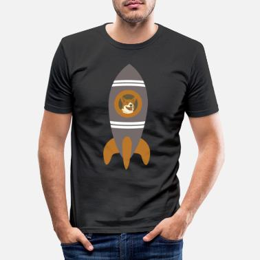Ufo SPACE DOG ROCKET - Männer Slim Fit T-Shirt