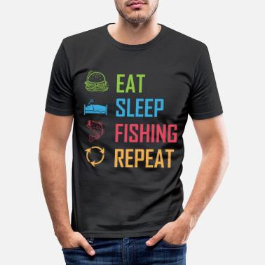 Eat Sleep Fish Repeat Eat Sleep Fishing Repeat - Men's Slim Fit T-Shirt