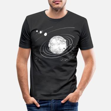 Saturn Solar System T-Shirt Gift Universe universe - Men's Slim Fit T-Shirt