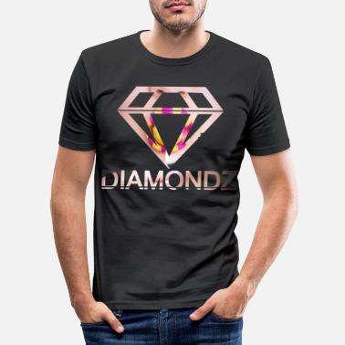 Lolli diamonds diamanten lolli Edel Mode Tshirt Design 2 - Männer Slim Fit T-Shirt
