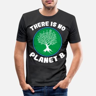 Girl Recycling Environmental Protection World Save the Environment Gift - Men's Slim Fit T-Shirt