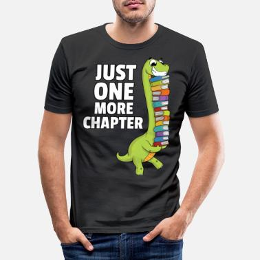Book Dinosaur Dino book reading bookworm books - Men's Slim Fit T-Shirt