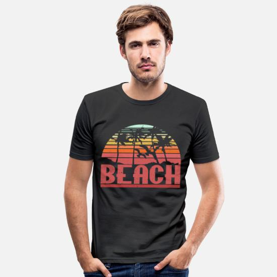 Gift Idea T-Shirts - Beach - Men's Slim Fit T-Shirt black