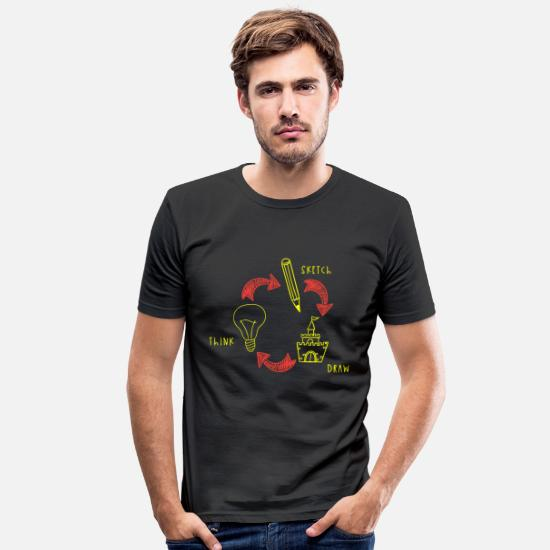 Image T-Shirts - Drawing drawing gift idea - Men's Slim Fit T-Shirt black