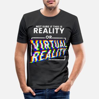 Vr Virtual Reality Gaming - Slim fit T-shirt mænd