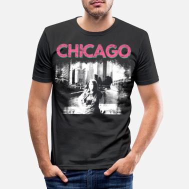 Chicago chicago usa city america gift gift idea - Men's Slim Fit T-Shirt