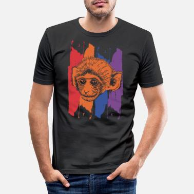 Monkey chimpanse - Slim fit T-shirt mænd