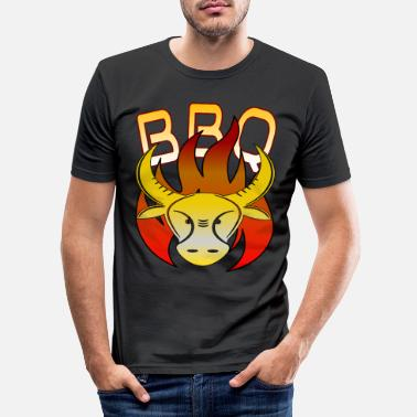 BBQ Barbecue Bulle - Männer Slim Fit T-Shirt