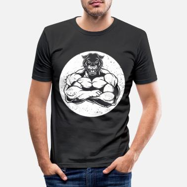 Muscle Panthère musculaire - T-shirt moulant Homme