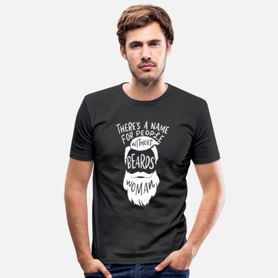 Gift Idea T-Shirts - Bearded Bearded Beard Schnauzer Gift - Men's Slim Fit T-Shirt black