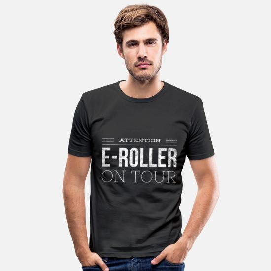 Birthday T-Shirts - Escooter e-scooter gift 1 - Men's Slim Fit T-Shirt black