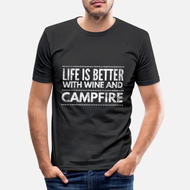Forest Camping camper nature outdoor times gift 1 - Men's Slim Fit T-Shirt