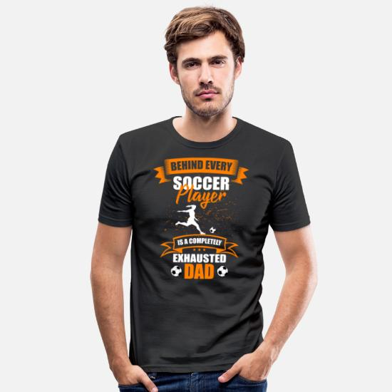 Soccer T-Shirts - Corner women's daughter - Men's Slim Fit T-Shirt black