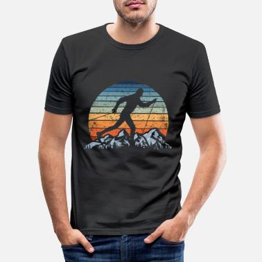 Langlauf Vintage Sunset Langlauf Langläufer Wintersport Ski - Männer Slim Fit T-Shirt
