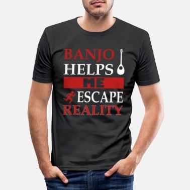 Player Awesome Banjo's Tshirt Design Escape Reality - Men's Slim Fit T-Shirt