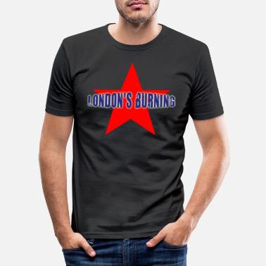 Clash London's burning star - Men's Slim Fit T-Shirt