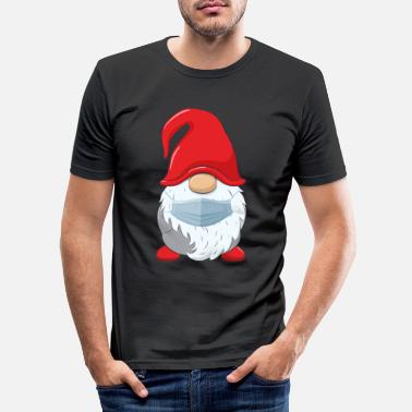 Mask Santa Claus with face mask - Men's Slim Fit T-Shirt