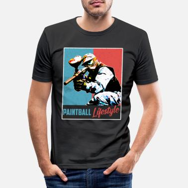 Club De Tir Paintball vintage - T-shirt moulant Homme