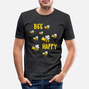 Bee Bee happy beekeeper bees - Men's Slim Fit T-Shirt