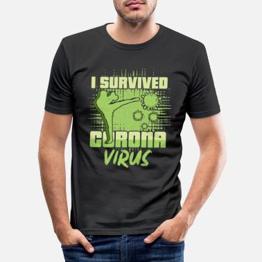 Art I survived corona virus - Men's Slim Fit T-Shirt