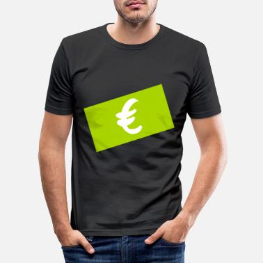 Seddel euro seddelen - Slim fit T-skjorte for menn