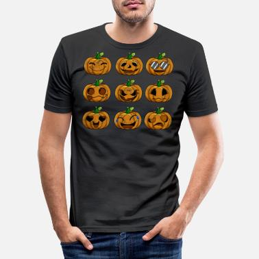 Emotion Halloween Pumpkin Emotions Retro - T-shirt slim fit herr
