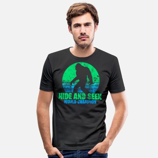 Play T-Shirts - Big Foot - Men's Slim Fit T-Shirt black