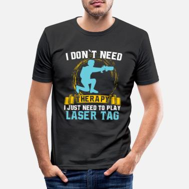Laser Laser Tag - Männer Slim Fit T-Shirt
