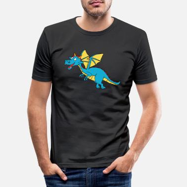 Dungeons And Dragons Dragon Dragon Mythical Creature Gift Dungeon And Dra - Men's Slim Fit T-Shirt