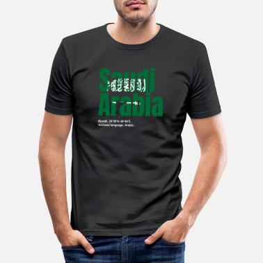 Arabia Saudi Arabia - Men's Slim Fit T-Shirt