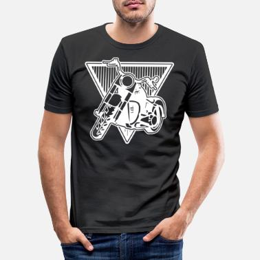 Motor Race Motorcycle Biker Tour Motor Race Road Race Stunt - Mannen slim fit T-shirt