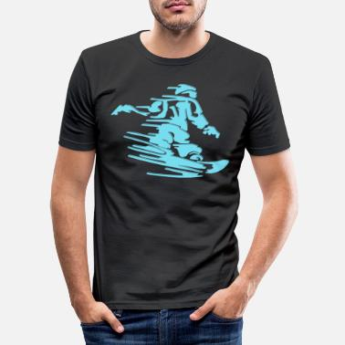 Winter Snowboard Winter Sports Mountain Sports Winter Sports Winter - Men's Slim Fit T-Shirt