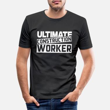 Construction Worker Construction worker Construction worker Construction worker Construction worker - Men's Slim Fit T-Shirt