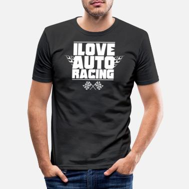 Course Automobile Course automobile course automobile - T-shirt moulant Homme