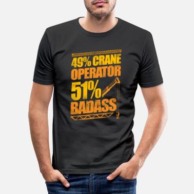 Heavy Badass Crane Operator Construction - Männer Slim Fit T-Shirt
